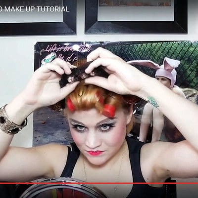 How to create a pin-up makeup look. Warhol Superstar Candy Darling Inspired Make Up - Step 17