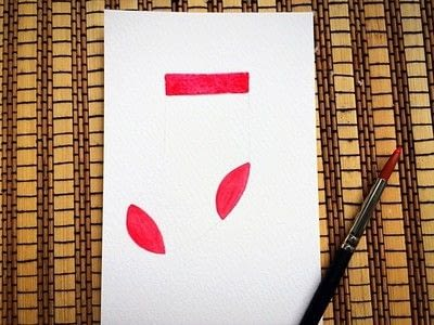 How to paint a piece of watercolor art. Watercolor Nursery Illustration Tutorial  - Step 2