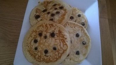 How to make a pancake / a waffle. Scottish Pancakes With Blueberries  - Step 7