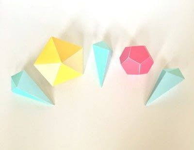 How to make a garland. Paper Gem Banner - Step 1