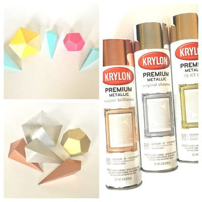 How to make a garland. Paper Gem Banner - Step 2