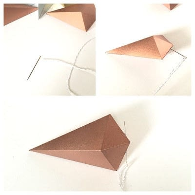 How to make a garland. Paper Gem Banner - Step 3