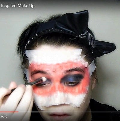 How to create a mask face makeup look. Devilish Masquerade Inspired Make Up - Step 3