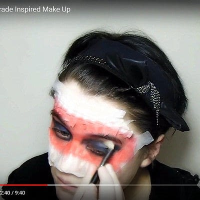 How to create a mask face makeup look. Devilish Masquerade Inspired Make Up - Step 4