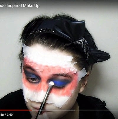 How to create a mask face makeup look. Devilish Masquerade Inspired Make Up - Step 5