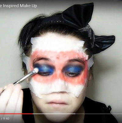 How to create a mask face makeup look. Devilish Masquerade Inspired Make Up - Step 6