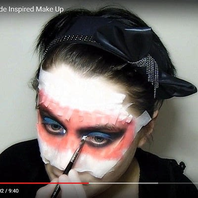 How to create a mask face makeup look. Devilish Masquerade Inspired Make Up - Step 8