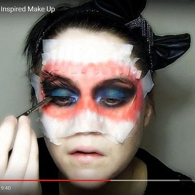 How to create a mask face makeup look. Devilish Masquerade Inspired Make Up - Step 9