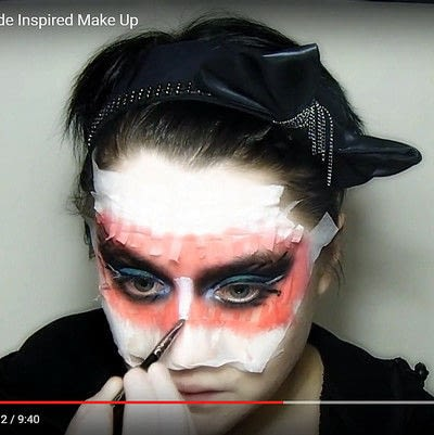 How to create a mask face makeup look. Devilish Masquerade Inspired Make Up - Step 10