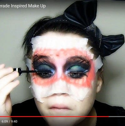 How to create a mask face makeup look. Devilish Masquerade Inspired Make Up - Step 12