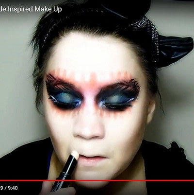 How to create a mask face makeup look. Devilish Masquerade Inspired Make Up - Step 14