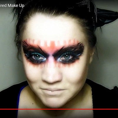 How to create a mask face makeup look. Devilish Masquerade Inspired Make Up - Step 15