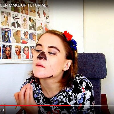 How to create special fx make up. Zipper Face Inspired Make Up Tutorial - Step 5