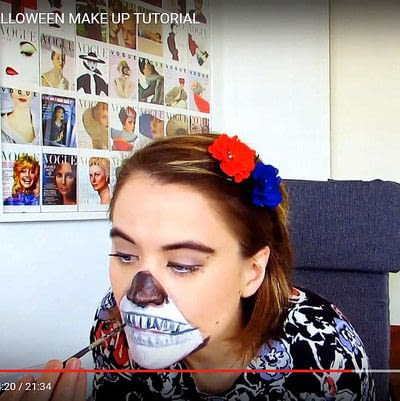 How to create special fx make up. Zipper Face Inspired Make Up Tutorial - Step 8