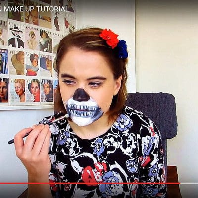How to create special fx make up. Zipper Face Inspired Make Up Tutorial - Step 12