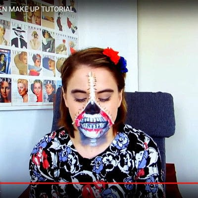 How to create special fx make up. Zipper Face Inspired Make Up Tutorial - Step 20