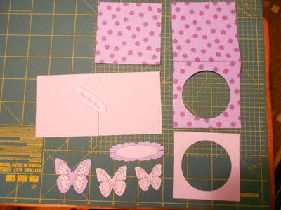 How to make a greetings card. Butterfly Hanging Easel Card - Step 1