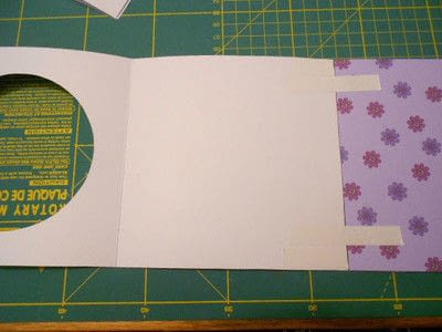 How to make a greetings card. Butterfly Hanging Easel Card - Step 3