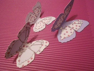 How to make a greetings card. Butterfly Hanging Easel Card - Step 6
