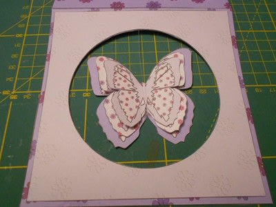 How to make a greetings card. Butterfly Hanging Easel Card - Step 8