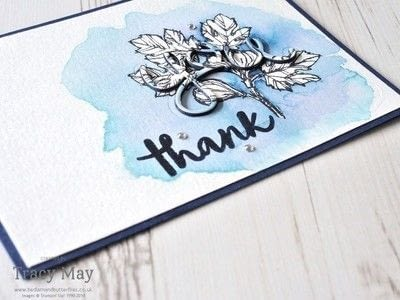 How to paint a watercolor card. Layered Letters Watercolour Card - Step 7