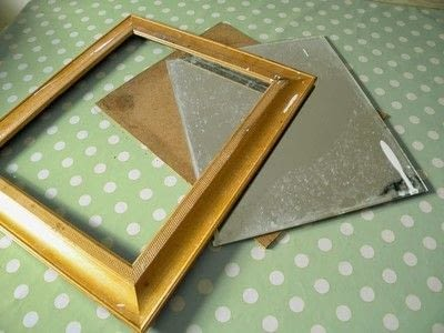 How to make a table mirror. Mirror Revamp   Fabric Covered Frame - Step 1
