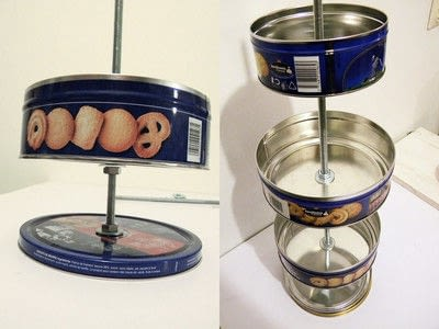 How to make a craft organizers. Cookie Tin Desk Organiser - Step 4