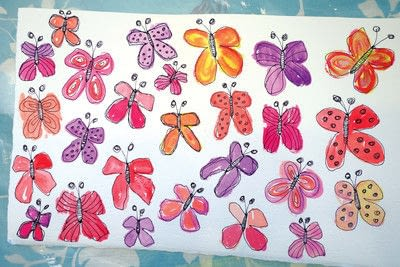 How to make a collages. Watercolor Butterfly Tree - Step 5