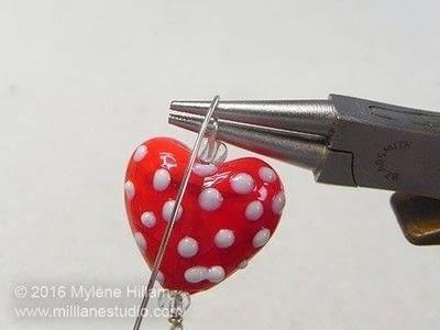 How to make a wire bracelet. Tweetheart Bracelet - Step 12