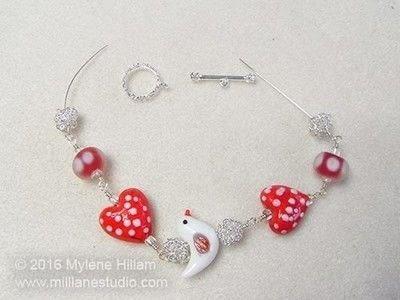How to make a wire bracelet. Tweetheart Bracelet - Step 14