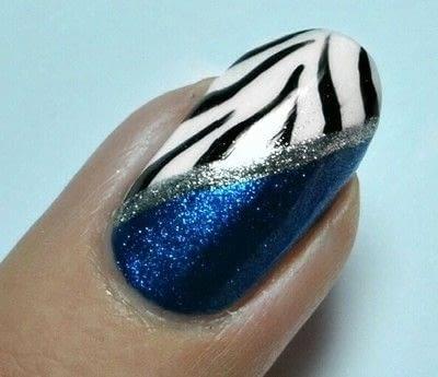 How to paint an animal print nail. Zebra Nail Art  - Step 5