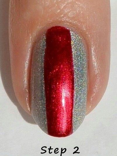 How to paint a stripy nail. Black Widow Nail Art  - Step 2