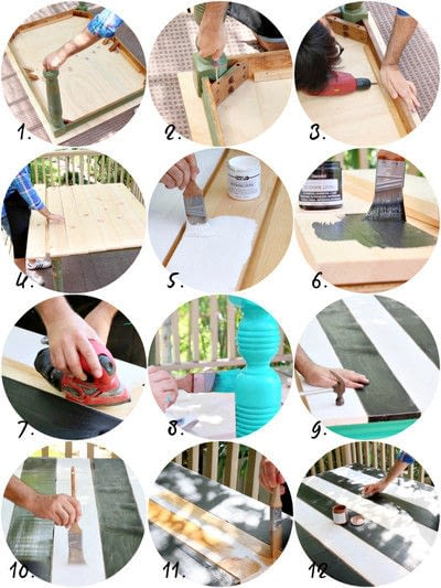 How to make a recycled table. Outdoor Table Makeover - Step 2