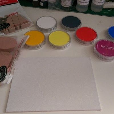 How to make a mixed media. Mixed Media Art ~ Flower Field - Step 1