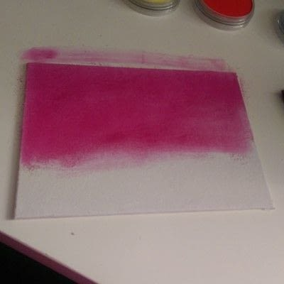 How to make a mixed media. Mixed Media Art ~ Flower Field - Step 2