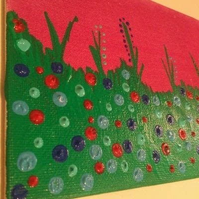 How to make a mixed media. Mixed Media Art ~ Flower Field - Step 4