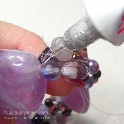 How to make a bracelet. Orchid Stretch Bracelet - Step 10