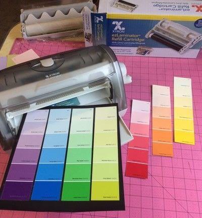 How to make a calendar. Paint Sample Perpetual Magnetic Calendar - Step 2