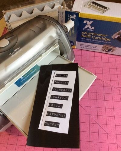 How to make a calendar. Paint Sample Perpetual Magnetic Calendar - Step 4