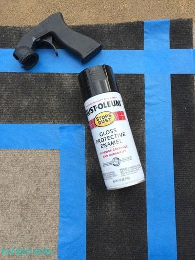 How to make a mat/rug. Painted Patio Rug - Step 1