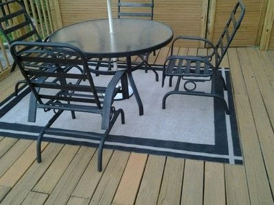 How to make a mat/rug. Painted Patio Rug - Step 2