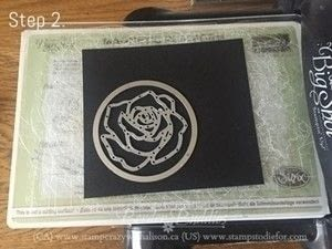 How to make a stamped card. Rose Wonder Happy Birthday Card - Step 4