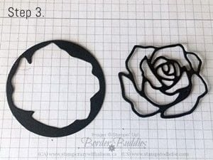 How to make a stamped card. Rose Wonder Happy Birthday Card - Step 5