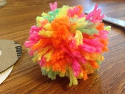 How to make a pet toy. Cat Pom Pom Using Dies - Step 10