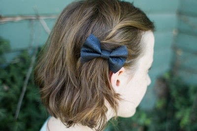 How to make a hair bow. Diy Leather Hairbow - Step 5