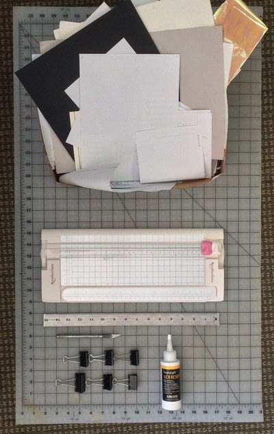 How to make a notebook journal. How To Make A Recycled Paper Pad With Shelf Life Art & Supply Co.! - Step 1
