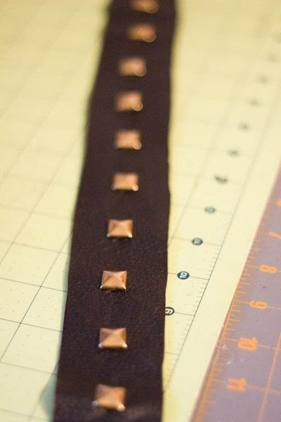 How to make a camera strap. Diy Leather Studded Camera Strap - Step 4