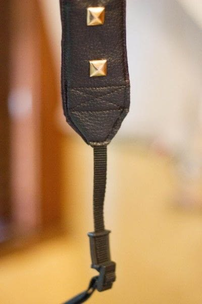 How to make a camera strap. Diy Leather Studded Camera Strap - Step 5