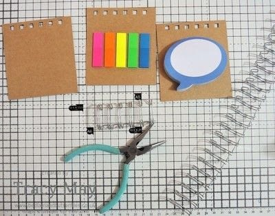 How to make a notebook journal. Spiral Bound Sticky Note Holder - Step 3