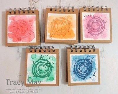 How to make a notebook journal. Spiral Bound Sticky Note Holder - Step 5